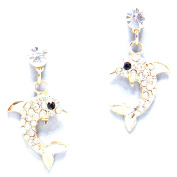 Dolphin Earrings / AZERFH273-GCL
