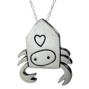 Mark Poulin Women's Pewter Necklace Hermit Crab 46cm Chain