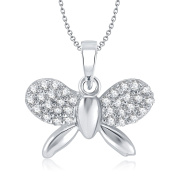 V. K. Jewels Bollywood Fashion Women's Butterfly Rhodium Plated Pedant [Jewellery]