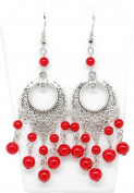 .  Fashion Tibetan Silver Drop Earring Set / AZERVI010-ARD