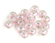 Athena Jewellery Pink Crystal Beads 10 Fits European Style Braclelets