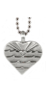 Wave curls with sun rays and heart surf jewellery Lead-free Pewter Love Sets Pendant