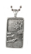Strickly Boarding Lead-free Pewter Surf Tag Wave Pendant