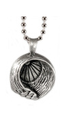 Unique Ocean wave barrel with sun rays Lead-free Pewter Paradise Sun Pendant