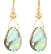Drops of Abalone Earrings - 14 Kt Goldfilled