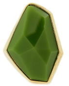 Stretch Ring with Olivine Acrylic in Gold Tone