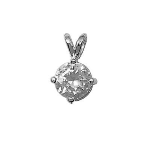 So-Chic-Jewels-925-Sterling-Silver-Clear-Cubic-Zirconia-Medallion-Pendant