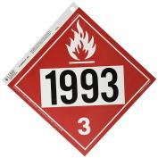 J.J. Keller 1,060m610m Class 3 Combustible Liquid Placard