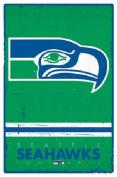 Trends International Seattle Seahawks Retro Logo Wall Posters, 60cm by 90cm