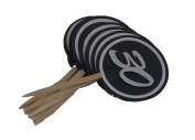 All About Details Black & White 30 Cupcake Toppers, Set of 12