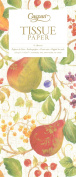 Entertaining with Caspari Decorated Pears Tissue Paper, Package of 4 Sheets