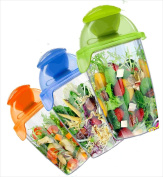 Compac Salad Blaster Salad On The Go Cup With Dressing Container, 770ml Blue