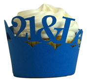 All About Details Blue 21- & -legalised Cupcake Wrappers, Set of 12
