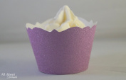 All About Details Purple Glitter Cupcake Wrappers, Set of 12