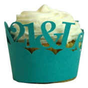 All About Details Teal 21- & -legalised Cupcake Wrappers, Set of 12