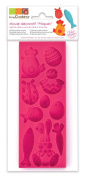 ScrapCooking 100-Percent Platinum Silicone Easter Mould for Fondant, Pink