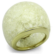Women's Stainless Steel 316 Emerald Colour Synthetic Stone Ring