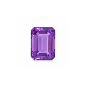 1.45-1.80 Cts of AA+ 9x7 mm Emerald Cut Amethyst ( 1 pc ) Loose Gemstone