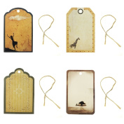 Wrapables Animals Printing Tag for Scrapbooking, Set of 24