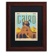 Trademark Fine Art Cairo, Egypt Black Matte Archival Paper Artwork by Anderson Design Group, 28cm by 36cm , Wood Frame