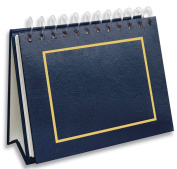 Pioneer Photo Albums 50 Pocket Spiral Bound Leatherette Mini Photo Album Easel for 10cm by 15cm Prints, Navy Blue