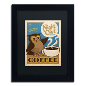Trademark Fine Art Night Owl Blend Coffee Canvas Art by Anderson Design Group, 28cm by 36cm , Black Matte with Black Frame