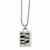 Top 10 Jewellery Gift Stainless Steel Laser Cut & Black IP-plated 50cm Dog Tag Necklace