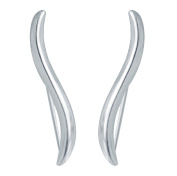 """CIShop """"Simple Wave"""" S925 Sterling Silver Ear Climber Crawler Cuff Earrings Hypoallergenic"""