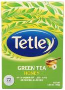 Tetley Green Tea, Honey, 72 Tea Bags