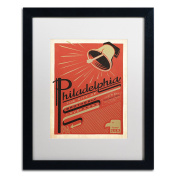 Trademark Fine Art Philadelphia PA Canvas Art by Anderson Design Group, 41cm by 50cm , White Matte with Black Frame