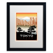 Trademark Fine Art Tokyo Canvas Art by Anderson Design Group, 41cm by 50cm , White Matte with Black Frame