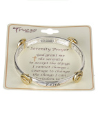 "Serenity Prayer Engraved Stretch Bracelet ""God grant me the Serenity to accept the..""- Jewellery Nexus"