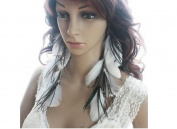 Feather Earrings White Chain Feather Earrings for Women