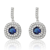 Neoglory Platinum Plated 4 Colours Charm Drop Earrings AAA Zircon Wedding Accessories