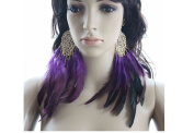 Long Feather Earrings for Women Dangle Natural Feather Earring Feather