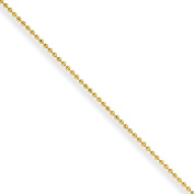 """Yellow-Tone over Brass 1.5mm Plated Ball Chain Necklace (16"""", 18"""", 20"""", 24"""") by Chisel"""