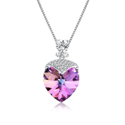 "Osiana ""Sweetheart ""Women's CZ Pendant Necklace Made with Elements Crystal Jewellery 46cm"