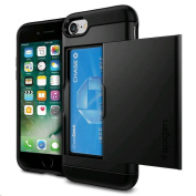 Spigen iPhone 8/7 Slim Armor CS Case Black, DROP-TESTED MILITARY GRADE,Convenient, Compact, Secure,