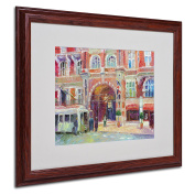 Trademark Fine Art London Artwork by Richard Wallich, 41cm by 50cm , Wood Frame