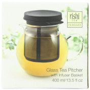 Rishi Tea Glass Pitcher (400mls) with Infuser Basket