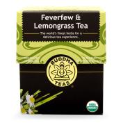 Buddha Teas Feverfew & Lemongrass Tea, 18 Count