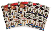 The Gift Wrap Company Pillar Gift Bags (Set of 6), All That Ales You, Multicolor