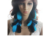 Long Feather Earrings for Women Black Blue Natural Feather Earrings