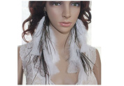 Peacock Feather Earrings For Women Feather Earrings White