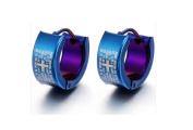 Mens Earrings Stainless Steel Huggie3 Hoop Cool Earrings for Teens
