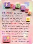Blue Mountain Arts Friends Like You are Hard to Find Miniature Easel-Back Print with Magnet