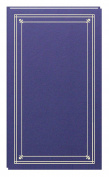 Pioneer Photo Albums 204-Pocket Post Bound Slim Line Leatherette Cover Photo Album for 10cm by 15cm Prints, Bay Blue