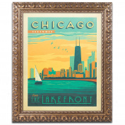 Trademark Fine Art Chicago II Canvas Art by Anderson Design Group, 28cm by 36cm , Gold Ornate Frame