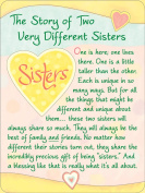 Blue Mountain Arts The Story of Two Sisters Miniature Easel-Back Print with Magnet
