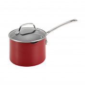 Circulon Genesis Aluminium Nonstick 2.8l Covered Straining Saucepan, Red